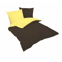 Спално бельо Кафяво и Жълто ранфорс