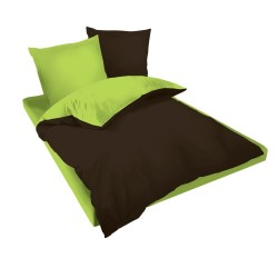 Спално бельо Кафяво и Зелено ранфорс