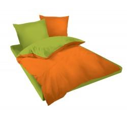 Спално бельо Оранжево и Зелено ранфорс