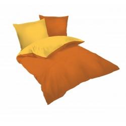 Спално бельо Оранжево и Светло Оранжево ранфорс