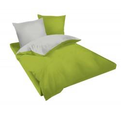 Спално бельо Зелено и Сиво ранфорс