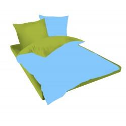 Спално бельо Зелено и Небесно синьо ранфорс