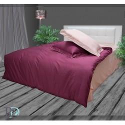 Памучен сатен Малина-Бонбон спално бельо