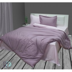 Памучен сатен Лилаво и Розово спално бельо
