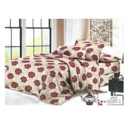 100% Микрофибър Спално бельо Червени цветя
