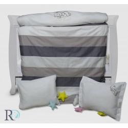 Луксозно бебешко спално бельо в бежово с бродерия МЕЧЕ