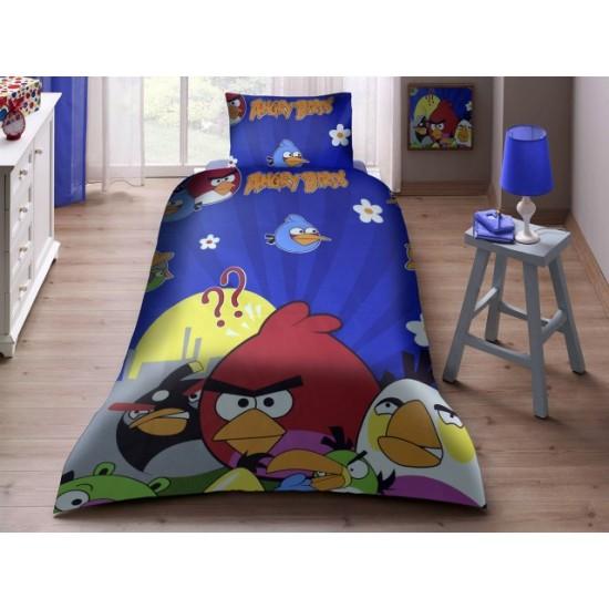 100% Памук детско спално бельо ANGRY BIRDS 3