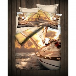 3D Спално бельо от Ранфорс YACHT