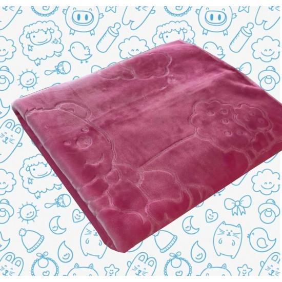 Бебешко одеяло от акрил Розово