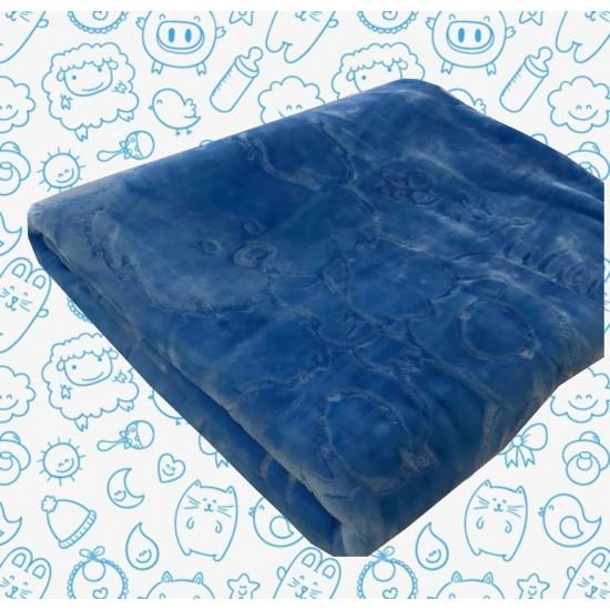 Бебешко одеяло от акрил Синьо