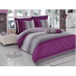 Спално бельо Valentina purple ранфорс