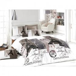 Спално бельо от ранфорс Париж в беж