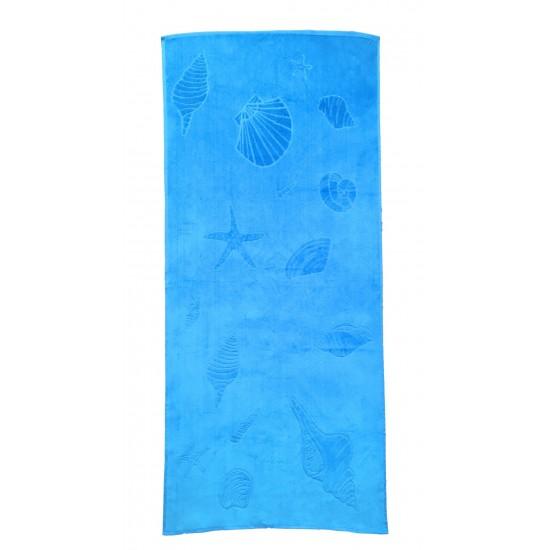 100% Памук плажна кърпа Riviera Blue