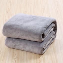Поларено одеяло в Сиво