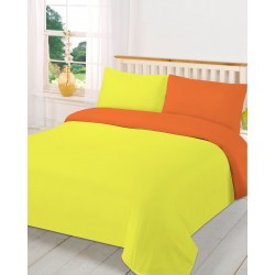 Спално бельо с две лица Жълто и Оранжево