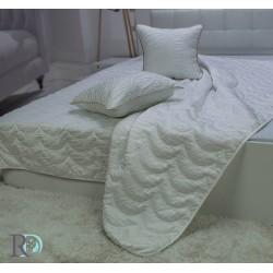 Капитонирана кувертюра жакард PENELOPE бяло