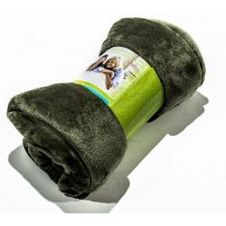 Поларено одеяло в тъмно зелено
