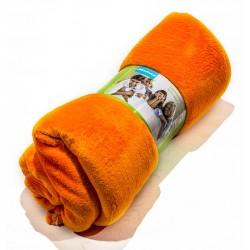 Поларено одеяло в оранжево