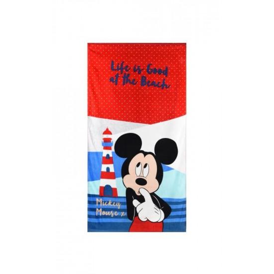 100% Памук Детска плажна кърпа Mickey on the beach