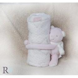 Бебешко одеяло с подарък Rorry  Pinky