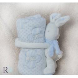 Бебешко одеяло с подарък Rorry  Blue
