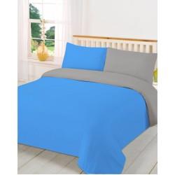 Спално бельо с олекотена завивка СИВО и АКВА