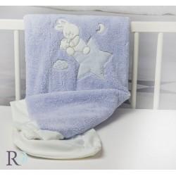 Бебешко одеяло Doddy  с апликация в синьо