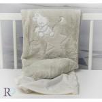 Бебешко одеяло Doddy с апликация в бежово