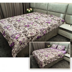 Спално бельо + шалте комплект LOVE LETTER 2