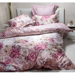 Спално бельо от памучен сатен FIORE purple