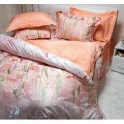 Спално бельо от памучен сатен FIORE peach