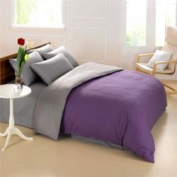 Спално бельо с олекотена завивка ЛИЛА и СИВО