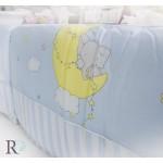 Обиколник за бебешка кошара Elephant blue