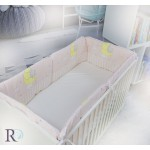 Обиколник за бебешка кошара Elephant pink