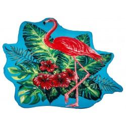 Кръгла плажна кърпа Flamingo