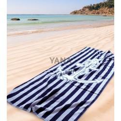 Плажна кърпа 100% Памук Синьо Райе