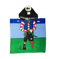 Хавлиено пончо за деца Pirat