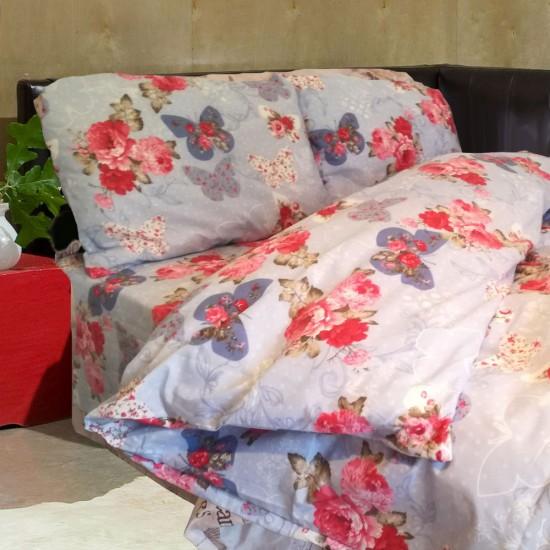 Спално бельо 100% Памук ПЕПЕРУДИ и РОЗИ