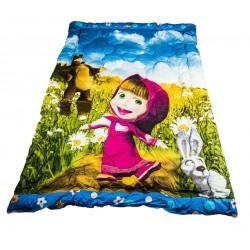 Детска олекотена завивка от памучен сатен МАША и МЕЧОКА