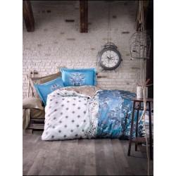 Спално бельо 100% Памук СИЛВИО синьо