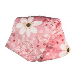 Поларено одеяло Розови Цветя