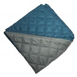 Двулицево шалте от микрофибър Синьо и Сиво
