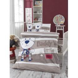 Ранфорс бебешко спално бельо Литъл Беар