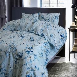 Спално бельо 100% Памук НИКО синьо
