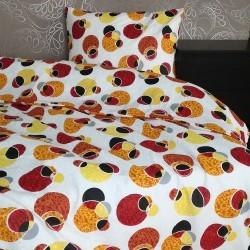 Спално бельо 100% Памук ГРЕКО оранж