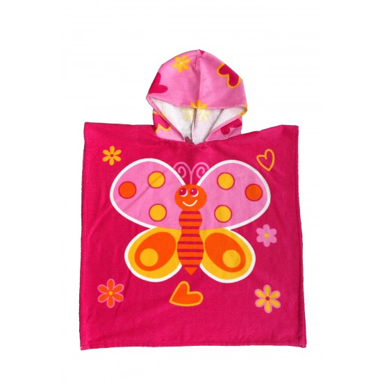Хавлиено пончо за деца Butterfly