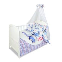 Луксозно спално бельо за бебе от 5 части СЪСТЕЗАНИЕ