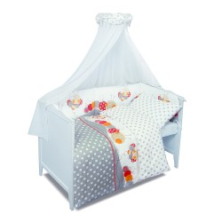 Луксозно спално бельо за бебе от 5 части ГАСЕНИЧКА