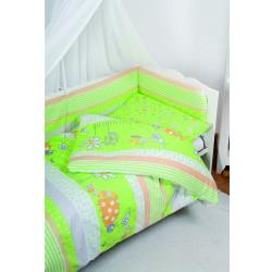 Луксозно спално бельо за бебе от 5 части ПРОЛЕТ