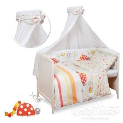 Луксозно спално бельо за бебе от 5 части КАЛИНКА